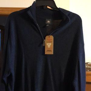 Lightweight navy blue sweater.